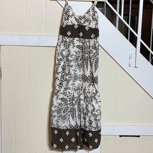 Speed Control Dresses - Speed Control Brown/White Maxi Dress